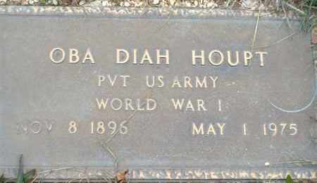 HOUPT (VETERAN WWI), OBA DIAH - Saline County, Arkansas | OBA DIAH HOUPT (VETERAN WWI) - Arkansas Gravestone Photos