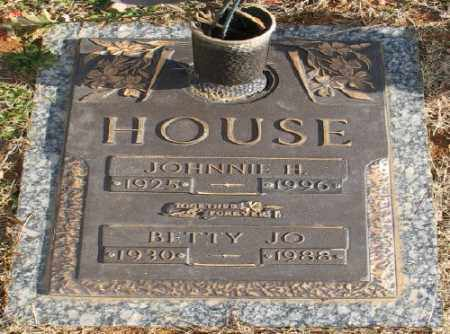 HOUSE, JOHNNIE H. - Saline County, Arkansas | JOHNNIE H. HOUSE - Arkansas Gravestone Photos