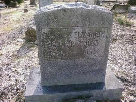 HOUSE, FRANCES ELIZABETH - Saline County, Arkansas | FRANCES ELIZABETH HOUSE - Arkansas Gravestone Photos