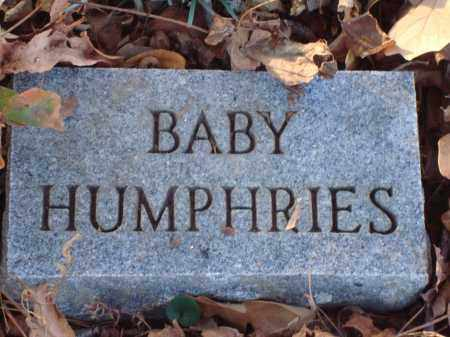 HUMPHRIES, BABY - Saline County, Arkansas   BABY HUMPHRIES - Arkansas Gravestone Photos