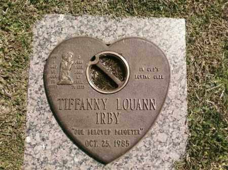 IRBY, TIFFANNY LOUANN - Saline County, Arkansas | TIFFANNY LOUANN IRBY - Arkansas Gravestone Photos