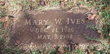 IVES, MARY W. - Saline County, Arkansas | MARY W. IVES - Arkansas Gravestone Photos