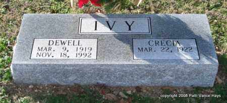 IVY, DEWELL - Saline County, Arkansas | DEWELL IVY - Arkansas Gravestone Photos