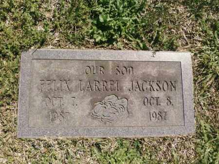 JACKSON, FELIX LARREL - Saline County, Arkansas | FELIX LARREL JACKSON - Arkansas Gravestone Photos
