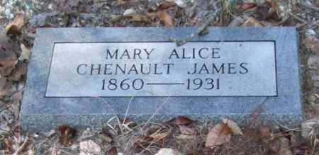 CHENAULT JAMES, MARY ALICE - Saline County, Arkansas | MARY ALICE CHENAULT JAMES - Arkansas Gravestone Photos