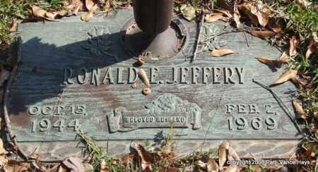 JEFFERY, RONALD E. - Saline County, Arkansas | RONALD E. JEFFERY - Arkansas Gravestone Photos