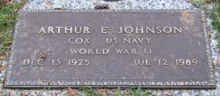 JOHNSON (VETERAN WWII), ARTHUR E - Saline County, Arkansas | ARTHUR E JOHNSON (VETERAN WWII) - Arkansas Gravestone Photos