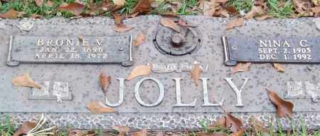 JOLLY, BRONIE V. - Saline County, Arkansas | BRONIE V. JOLLY - Arkansas Gravestone Photos