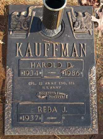 KAUFFMAN (VETERAN), HAROLD D - Saline County, Arkansas | HAROLD D KAUFFMAN (VETERAN) - Arkansas Gravestone Photos