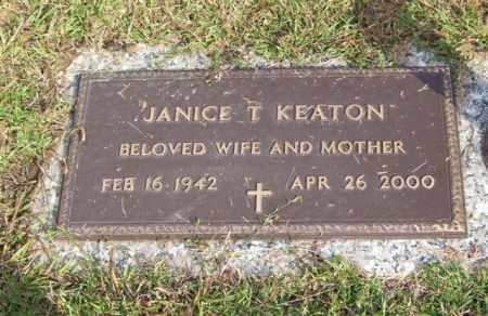KEATON, JANICE T. - Saline County, Arkansas | JANICE T. KEATON - Arkansas Gravestone Photos