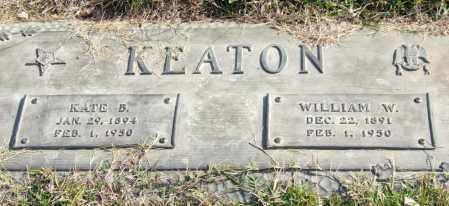 KEATON, WILLIAM W. - Saline County, Arkansas | WILLIAM W. KEATON - Arkansas Gravestone Photos