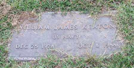 KEATON (VETERAN), WILLIAM JAMES - Saline County, Arkansas | WILLIAM JAMES KEATON (VETERAN) - Arkansas Gravestone Photos