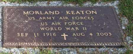 KEATON (VETERAN WWII), MORLAND - Saline County, Arkansas | MORLAND KEATON (VETERAN WWII) - Arkansas Gravestone Photos
