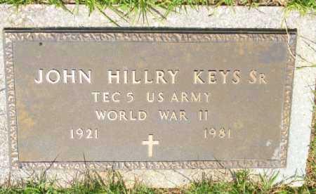 KEYS, SR. (VETERANS WWII), JOHN HILLRY - Saline County, Arkansas | JOHN HILLRY KEYS, SR. (VETERANS WWII) - Arkansas Gravestone Photos