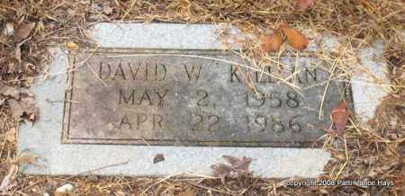KILLIAN, DAVID W. - Saline County, Arkansas | DAVID W. KILLIAN - Arkansas Gravestone Photos