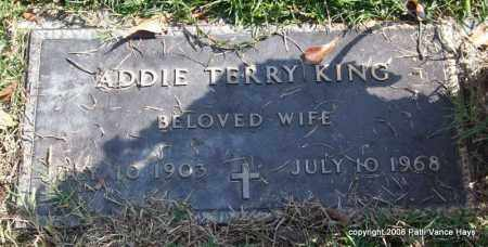 TERRY KING, ADDIE - Saline County, Arkansas | ADDIE TERRY KING - Arkansas Gravestone Photos