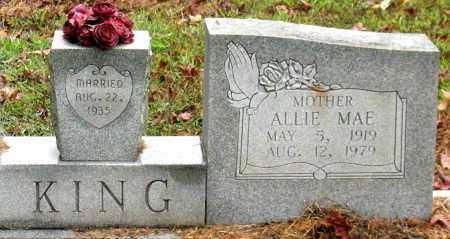 KING, ALLIE MAE - Saline County, Arkansas | ALLIE MAE KING - Arkansas Gravestone Photos