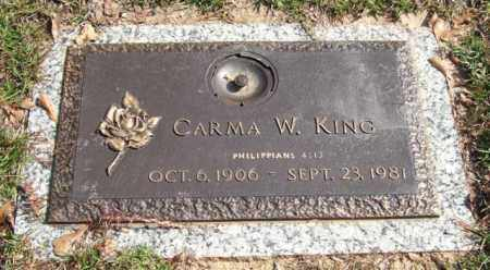 KING, CARMA W. - Saline County, Arkansas   CARMA W. KING - Arkansas Gravestone Photos