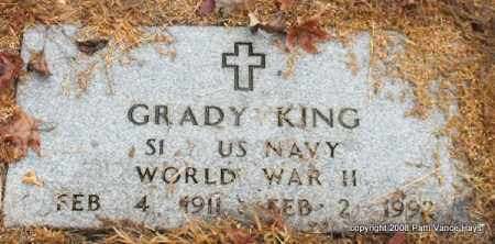 KING (VETERAN WWII), WILLIAM GRADY - Saline County, Arkansas | WILLIAM GRADY KING (VETERAN WWII) - Arkansas Gravestone Photos