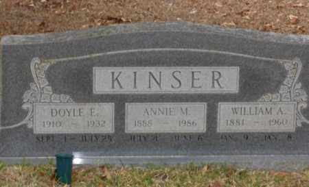 KINSER, WILLIAM A. - Saline County, Arkansas | WILLIAM A. KINSER - Arkansas Gravestone Photos