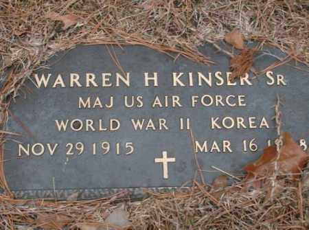 KINSER, SR (VETERAN 2 WARS), WARREN H - Saline County, Arkansas | WARREN H KINSER, SR (VETERAN 2 WARS) - Arkansas Gravestone Photos