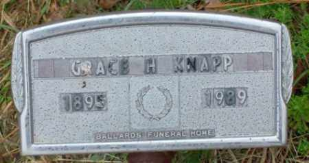 KNAPP, GRACE H. - Saline County, Arkansas | GRACE H. KNAPP - Arkansas Gravestone Photos