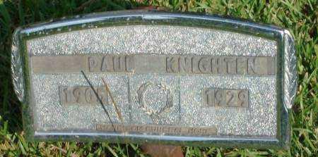 KNIGHTEN, PAUL - Saline County, Arkansas | PAUL KNIGHTEN - Arkansas Gravestone Photos