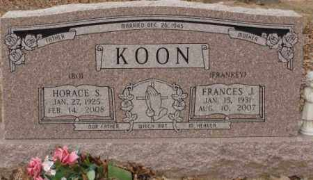 KOON, FRANCES J. - Saline County, Arkansas | FRANCES J. KOON - Arkansas Gravestone Photos