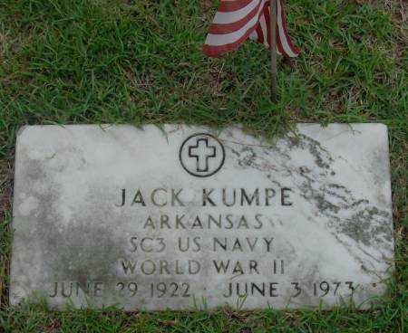 KUMPE  (VETERAN WWII), JACK - Saline County, Arkansas | JACK KUMPE  (VETERAN WWII) - Arkansas Gravestone Photos