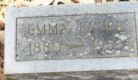 ROLLER KYZER, EMMA - Saline County, Arkansas | EMMA ROLLER KYZER - Arkansas Gravestone Photos