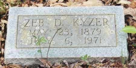 KYZER, ZEB D. - Saline County, Arkansas | ZEB D. KYZER - Arkansas Gravestone Photos