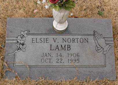 NORTON LAMB, ELSIE V. - Saline County, Arkansas | ELSIE V. NORTON LAMB - Arkansas Gravestone Photos