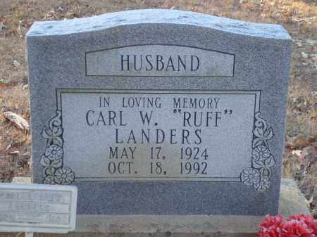 "LANDERS, CARL W ""RUFF"" - Saline County, Arkansas 