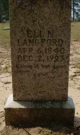 LANGFORD, ELI - Saline County, Arkansas | ELI LANGFORD - Arkansas Gravestone Photos