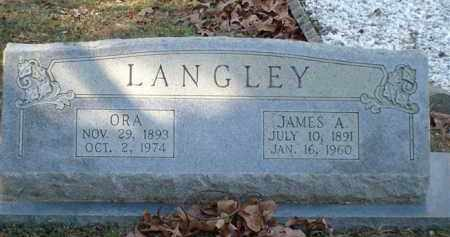 LANGLEY, ORA - Saline County, Arkansas | ORA LANGLEY - Arkansas Gravestone Photos