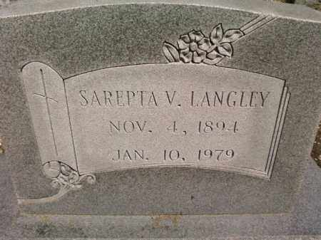LANGLEY, SAREPTA V. - Saline County, Arkansas | SAREPTA V. LANGLEY - Arkansas Gravestone Photos