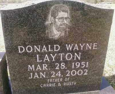 LAYTON, DONALD WAYNE - Saline County, Arkansas | DONALD WAYNE LAYTON - Arkansas Gravestone Photos