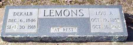 LEMONS, DEKALB - Saline County, Arkansas | DEKALB LEMONS - Arkansas Gravestone Photos