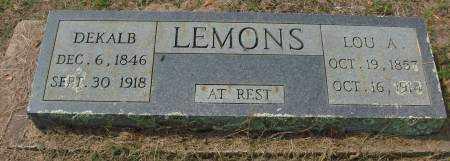 LEMONS, DEKALB - Saline County, Arkansas | DEKALB LEMONS - Arkansas Gravestone Photos