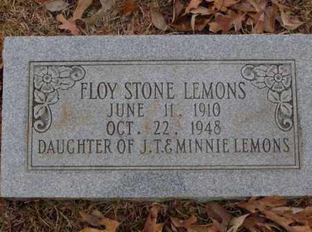 LEMONS, FLOY STONE - Saline County, Arkansas | FLOY STONE LEMONS - Arkansas Gravestone Photos