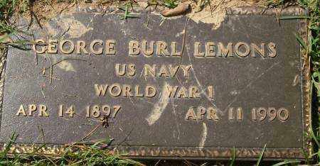 LEMONS  (VETERAN WWI), GEORGE BURL - Saline County, Arkansas | GEORGE BURL LEMONS  (VETERAN WWI) - Arkansas Gravestone Photos