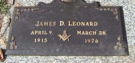 LEONARD, JAMES D. - Saline County, Arkansas | JAMES D. LEONARD - Arkansas Gravestone Photos