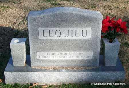 LEQUIEU, COY E. (BACK) - Saline County, Arkansas | COY E. (BACK) LEQUIEU - Arkansas Gravestone Photos