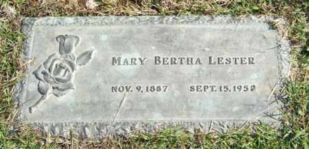LESTER, MARY BERTHA - Saline County, Arkansas | MARY BERTHA LESTER - Arkansas Gravestone Photos