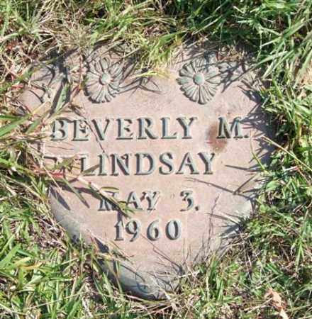 LINDSAY, BEVERLY M. - Saline County, Arkansas | BEVERLY M. LINDSAY - Arkansas Gravestone Photos