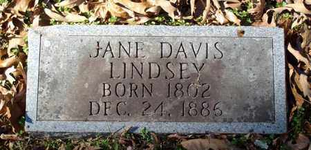 DAVIS LINDSEY, JANE - Saline County, Arkansas | JANE DAVIS LINDSEY - Arkansas Gravestone Photos