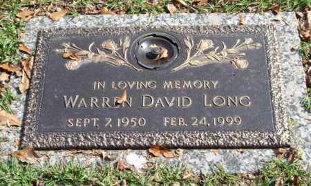 LONG, WARREN DAVID - Saline County, Arkansas | WARREN DAVID LONG - Arkansas Gravestone Photos
