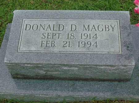 MAGBY, DONALD D - Saline County, Arkansas | DONALD D MAGBY - Arkansas Gravestone Photos