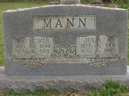 MANN, WM. HOMER - Saline County, Arkansas | WM. HOMER MANN - Arkansas Gravestone Photos