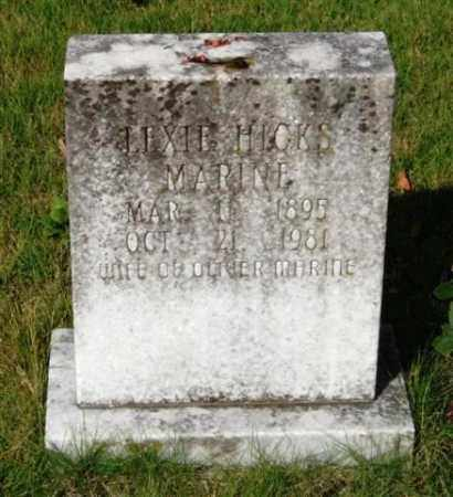 MARINE, LEXIE - Saline County, Arkansas | LEXIE MARINE - Arkansas Gravestone Photos